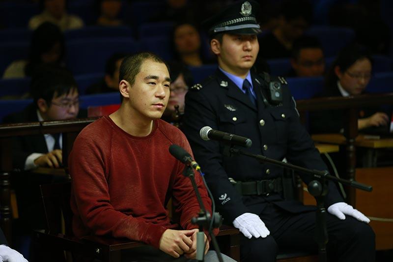 张默在法庭,接受宣判