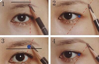 MM如何用眉笔画眉毛图片