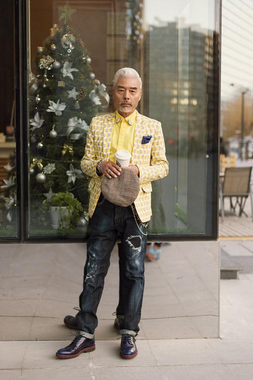 中国潮叔变身时尚达人