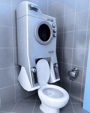 这款马桶和洗衣机一体化设计的概念产品Washup无疑会受到很多人的肯定,首先可以节省卫生间的空间,其次洗衣机用水还可以存储起来用来冲马桶,一举两得。不过随之而来的是维修成本增加,即使这样,感觉这样的产品还会受到市场的欢迎。