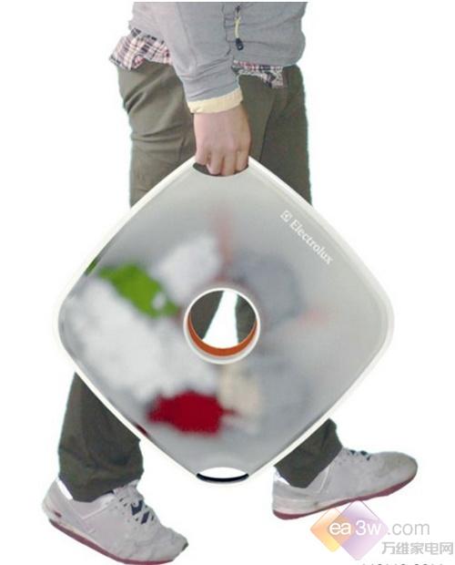 不过它清洗衣服使用的不是水,而是高压蒸汽。看这个头也只能处理一些简单的衣物,适合单身公寓使用。设计师:Lichen Guo。