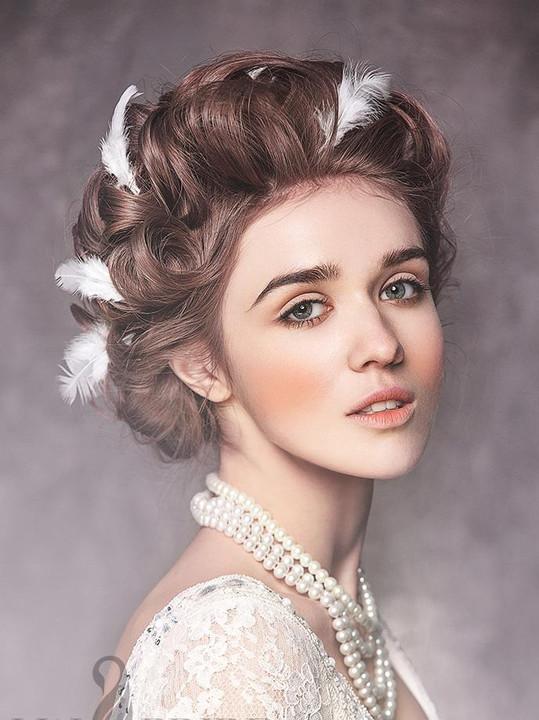 欧式复古宫廷新娘发型图片_欧式复古宫廷新娘发型图片图片