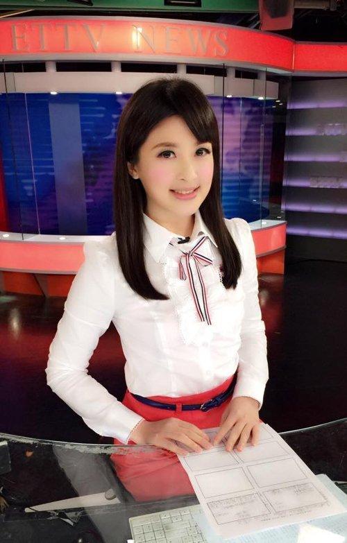 台湾十大最美女主播 清纯萌照来比美 组图图片