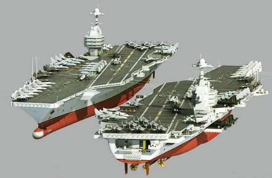 资料图:西方有学者认为第一艘江南航母应该是核动力的,类似苏联