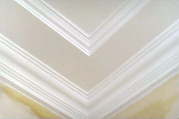 欧式石膏线效果图天花板