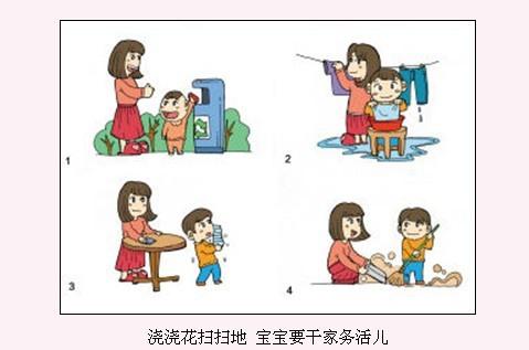 孩子整理衣柜卡通图片
