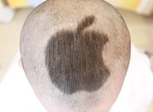 宝宝个性发型——苹果图案,苹果?现在大家都买苹果,我才不买!我有!图片