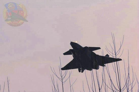 环球网图:歼20隐形战机结束飞行 黄昏中尽展柔和美。