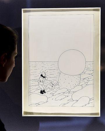 《丁丁历险记》一封面手稿拍出1770万元高价。