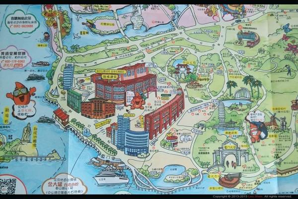 里面不仅有手绘地图可以导航,还有机场到动车站,旅游景点的机场大巴
