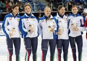 图文:短道速滑世界杯德国站 意大利女队夺银牌