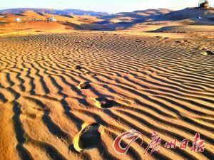 响沙湾的沙子。