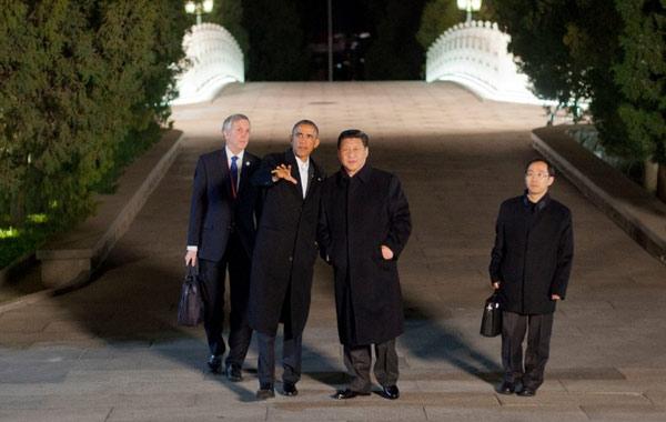 2014年11月11日新华网北京电(记者刘华)国家主席习近平11日晚在中南海同美国总统奥巴马开始会晤。