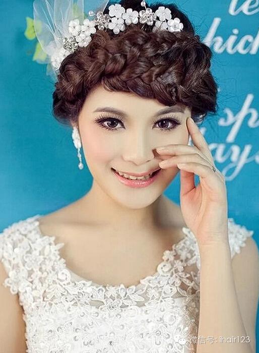 2015最美新娘盘发图片!优雅柔美!