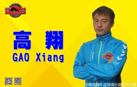青岛海牛官方宣布高翔加盟球队