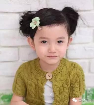 女宝宝发型,清新又可爱哦,不会花很多时间,非常实用的小女孩扎发哦,希图片