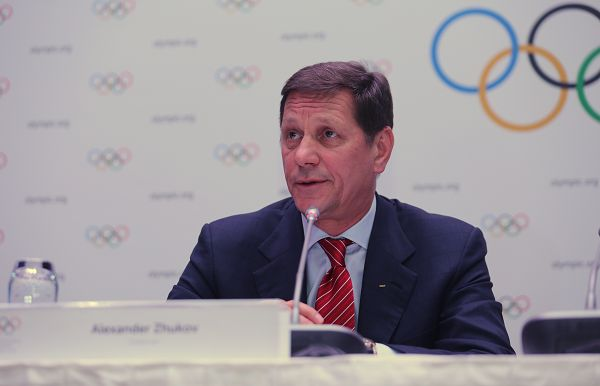 图文:国际奥委会考察团发布会 委员茹科夫
