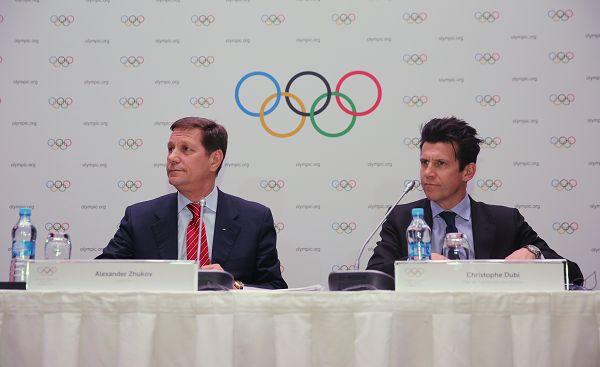 图文:国际奥委会考察团发布会 召开新闻发布会