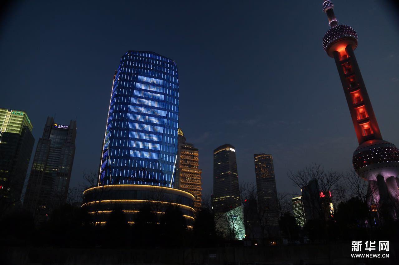 """东方体育中心官网_在上海,问候全世界——""""东方蓝宝石""""向国际金融中心城市送 ..."""