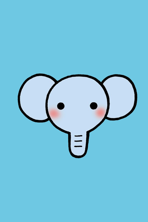 可爱小象照片