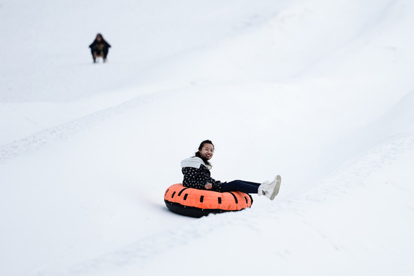 图文:全民健身滑雪贺新春 雪蝶项目