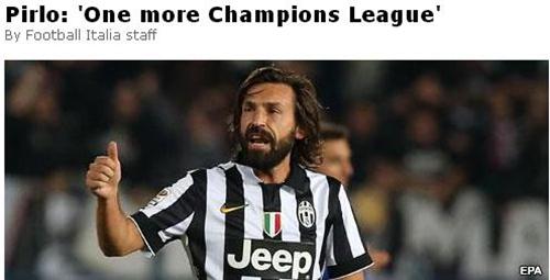皮尔洛希望再夺欧冠