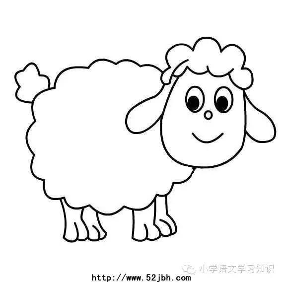 简笔画动物大全-知识 羊年话 画 羊