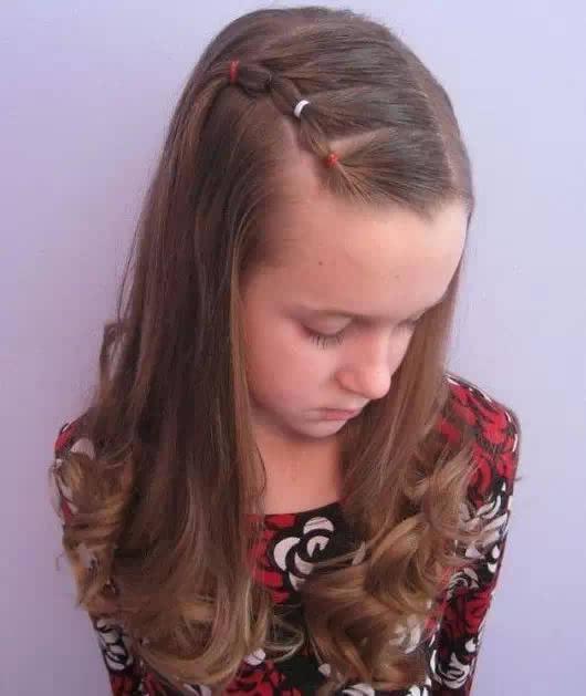 小女孩儿童编发发型图片欣赏图片