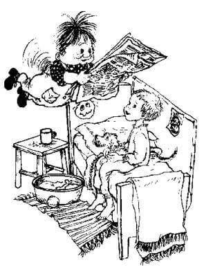 """卡尔松   我在想那位著名的瑞典童话家阿·林格伦,以后她的作品都通不过女权主义审查了,全部需要像这样重写:""""卡尔松是个背上有小马达和螺旋桨的小男孩,啊不,不是小男孩,是个性取向还没有完全分化,喜欢穿背带裤但也许以后会喜欢裙子的小家伙."""