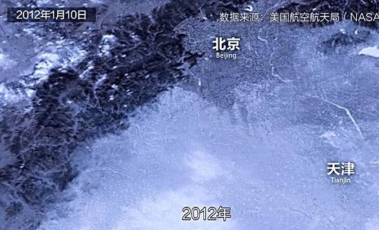 2012年1月10日,雾霾笼罩下的华北平原。