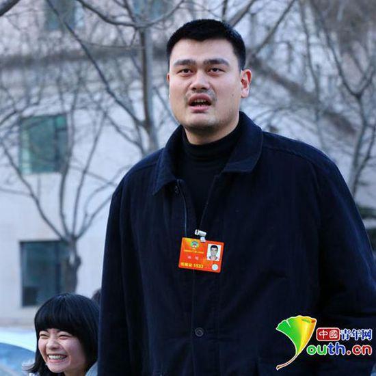 全国政协委员,著名篮球运动员姚明。中国青年网记者张炎良摄