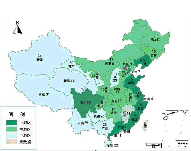 广东辐射中国地图