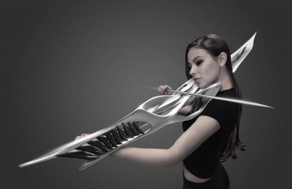 这款3D打印的乐器由建筑工作室Monad所创造设计,今年4月16到19日在纽约召开的3D打印秀中安装在Abyecto工作室上<b