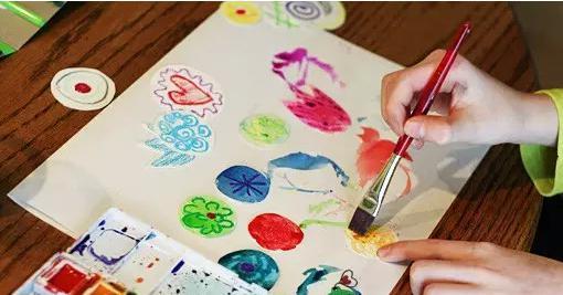 儿童diy花盆手绘图案