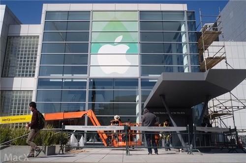 苹果发布会场布置中 3月9日新品将亮相