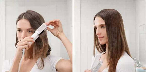 卷发变直发对比照分享展示图片