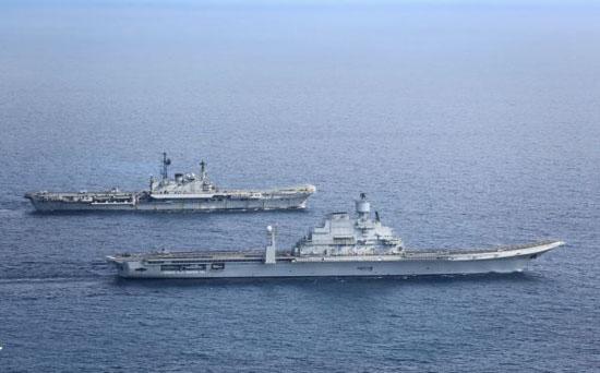 资料图:印度海军的双航母编队