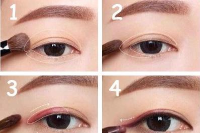 眼妆的画法视频_眼影怎么画好看图解_眼线怎么画好看图解_眼妆怎么画好看图解 ...