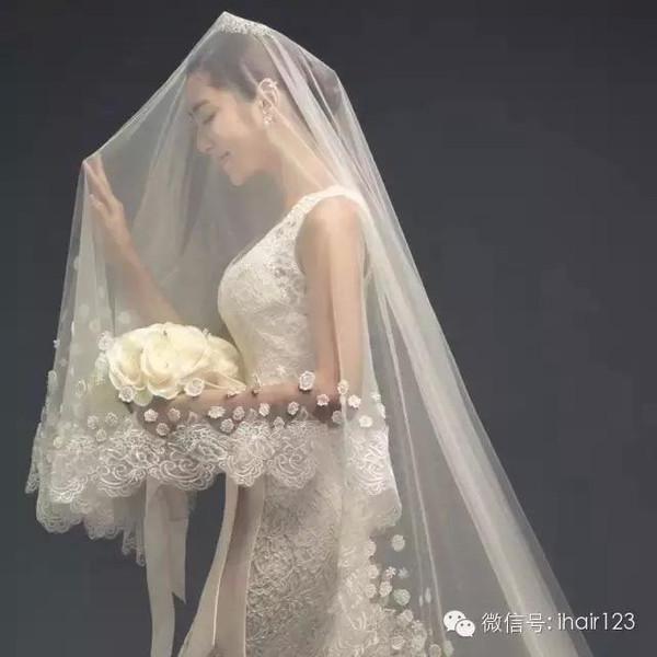10 款清新乖巧的新娘发型,头纱造型美美哒!图片