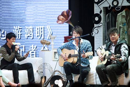 与莫凡、陈楚生现场演绎《下沙》片段