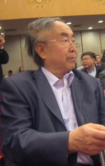 2011年4月,83岁的吕厚民在人民大会堂。