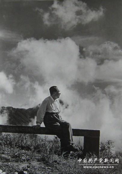 1961年毛主席在庐山。