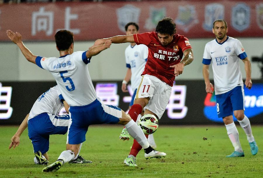 (體育)(5)足球——中超:廣州恒大淘寶迎戰石家莊永昌圖片