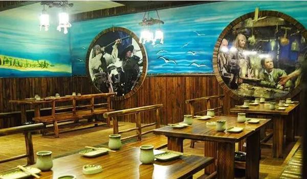 甲板海盗主题烧烤餐厅图片