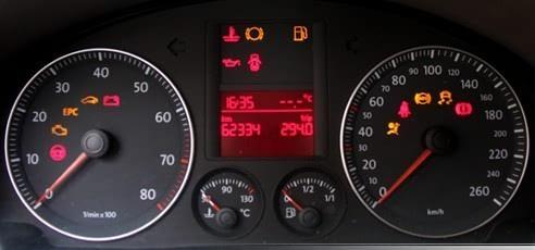 车主不知道的汽车仪表盘上各指示灯指代内容高清图片