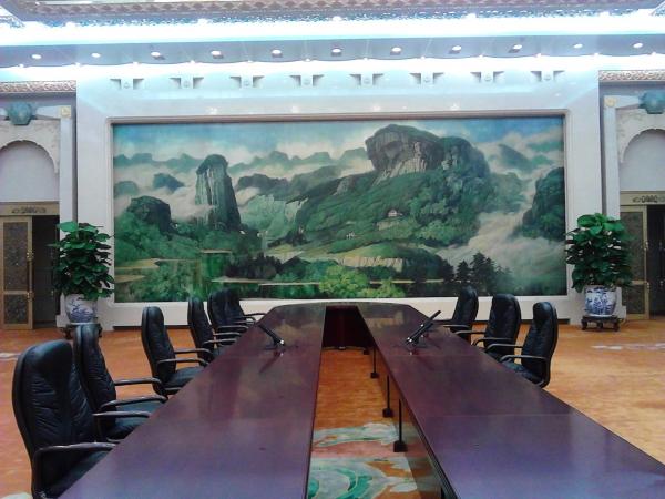 人民大会堂福建厅,巨幅漆壁画《武夷之春》-人民大会堂 于静穆中聆