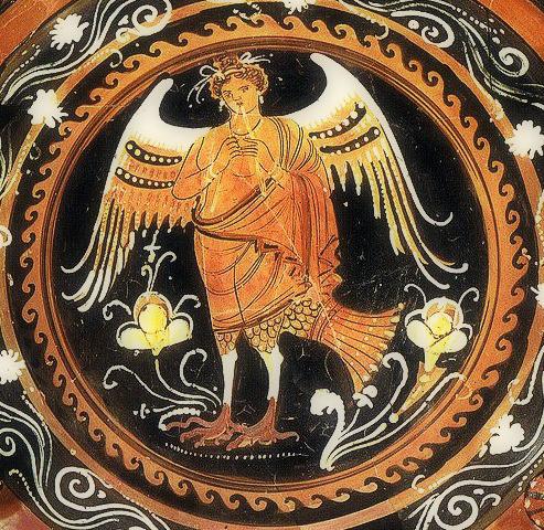 希腊神话中拥有诱人歌喉的墨西拿女妖塞壬图片