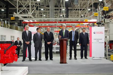 戴姆勒 北京/美国国务卿约翰克里访问福田康明斯发动机有限公司...