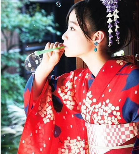 日本千年美女桥本环奈和服写真清纯动人