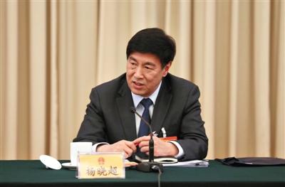 全国人大代表、北京市政法委书记杨晓超。